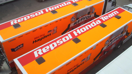 Vehicle graphics for Repsol Honda MotoGP team