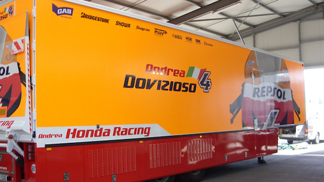 CV Graphics were proud to provide vehicle and pit lane graphics for Repsol Honda